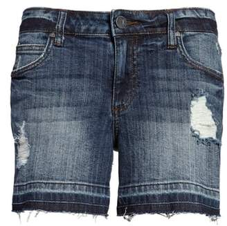 KUT from the Kloth Distressed Release Hem Denim Shorts