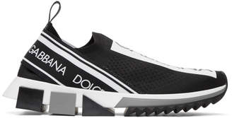 Dolce & Gabbana Black Branded Sorrento Sneakers