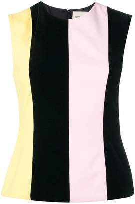 George Keburia striped sleeveless blouse