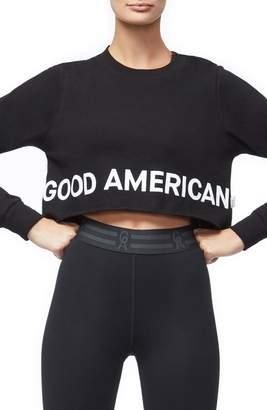 Good American Crop Sweatshirt