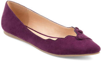 Journee Collection Womens Jc Mila Ballet Flats Slip-on Round Toe
