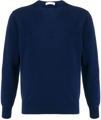 Cruciani long sleeved ribbed knit sweater