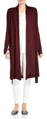 Halston Long-Line Silk & Cashmere Cardigan