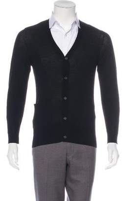 John Varvatos Wool V-Neck Cardigan