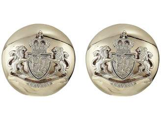 Lauren Ralph Lauren Crest Clip Button Earrings