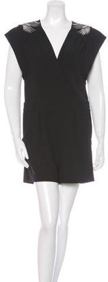 Alice by Temperley Embroidered V-Neck Romper $100 thestylecure.com