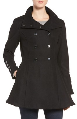 Women's Calvin Klein Wool Blend Fit & Flare Jacket $348 thestylecure.com