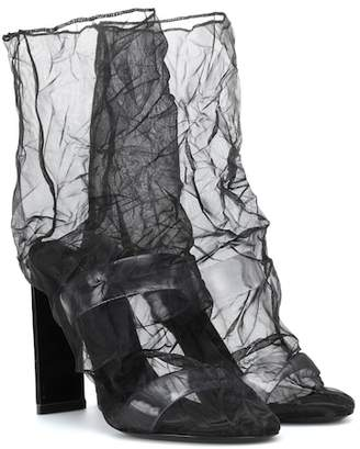 Nicholas Kirkwood D'Arcy 105 organza ankle boots