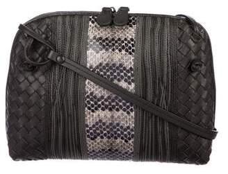 Bottega Veneta Snakeskin Intrecciato Crossbody Bag