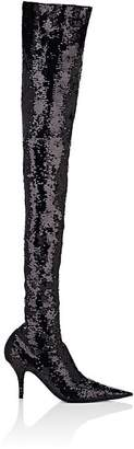 Balenciaga Women's Knife Sequined Over-The-Knee Boots