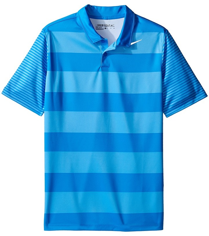 Nike Kids - Bold Stripe Polo Boy's Short Sleeve Pullover
