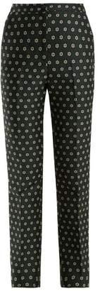 Alexachung - Straight Leg Floral Jacquard Trousers - Womens - Black Multi