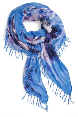 Women's Nordstrom Flora Obscura Scarf $39 thestylecure.com