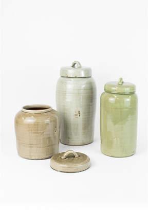 Kalalou Ceramic Canisters, Set of 3