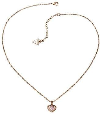 GUESS UBN12005 Ladies'Necklace with Pendant Gold-Plated Brass and Pink Glass 45.5 CM-Ubn21564