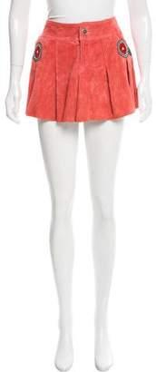 Kenzo Leather Mini Skirt