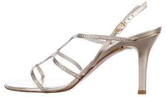 Stuart Weitzman Crystal-Embellished Undulate Sandals