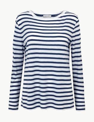 ecae090a2e Per Una Per UnaMarks and Spencer Striped Round Neck Long Sleeve T-Shirt