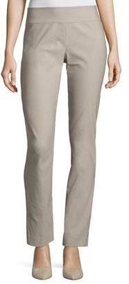 NIC+ZOE Wonderstretch Straight-Leg Pants, Light Beige $128 thestylecure.com
