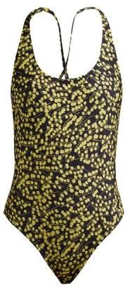 Ganni Caradonna Floral Print Swimsuit - Womens - Black