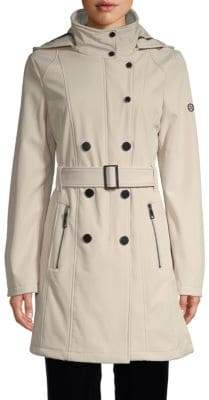 Calvin Klein Hooded Double-Breasted Coat