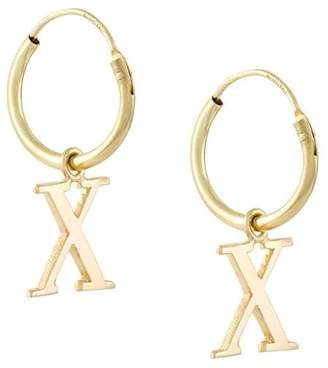 Wouters & Hendrix Gold 18kt yellow gold 'X' earrings