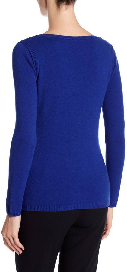 In Cashmere Cashmere Open-Stitch Pullover Sweater 34