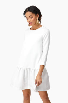 Avon Lane by Tuckernuck Ivory Louise Peplum Dress