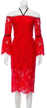 Alexis Lace Off-The-Shoulder Dress