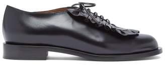 Samuele Failli - Adam Ruffle Trimmed Leather Shoes - Womens - Black