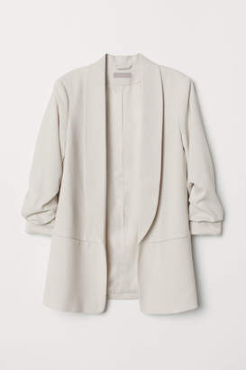 H&M Jacket with Gathered Sleeves - Beige