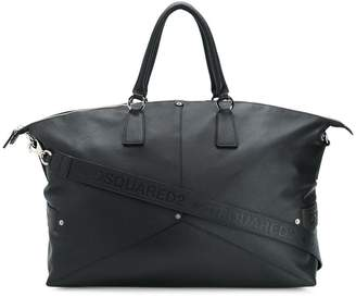 DSQUARED2 top zipped holldall bag