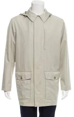 Burberry Nova Check-Lined Hooded Jacket