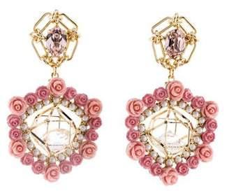 Dannijo Caged Crystal Clock Earrings