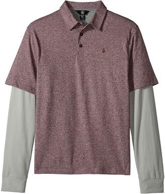 Volcom Wowzer Twofer Polo Boy's Long Sleeve Pullover