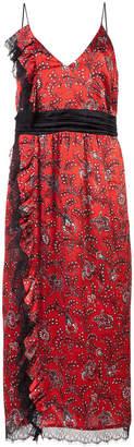 Cinq à Sept patterned ruffle dress