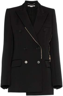 Stella McCartney double breasted zip wool blazer