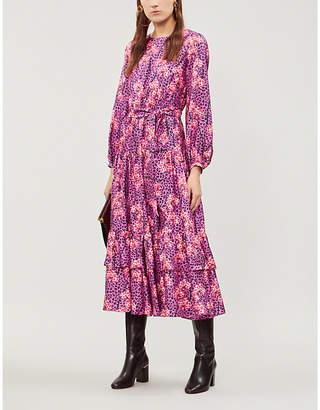BORGO DE NOR Augustina leopard-print silk-crepe midi dress