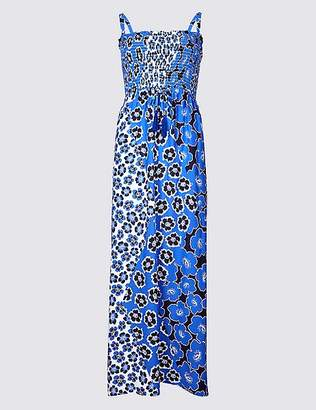 Marks and Spencer Floral Print Shirred Beach Dress