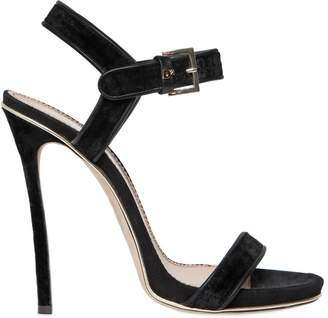 Dsquared2 120MM CHAIN SUEDE SANDALS HQnOD