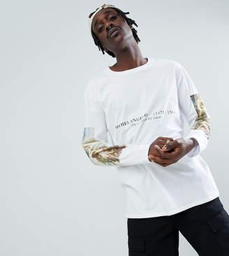 Reclaimed Vintage inspired Michaelangelo long sleeve t-shirt
