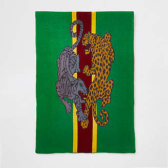 River Island Green leopard print scarf