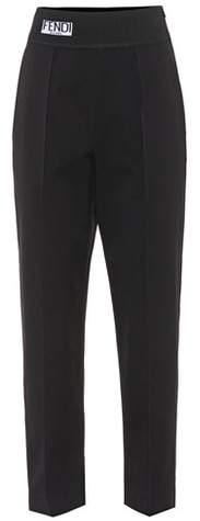 Fendi Cropped cotton trousers
