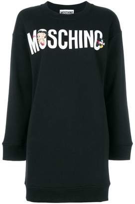 Moschino Betty Boop logo sweater dress