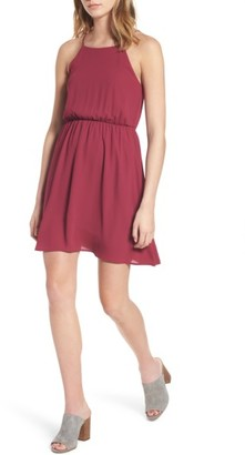 Women's Lush Back Tie Blouson Dress $45 thestylecure.com