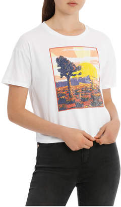 Miss Shop Graphic Tee Slouch Boxy (Desert Sunset)