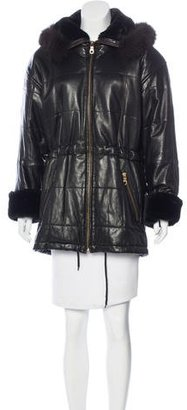Andrew Marc Faux Fur Leather Jacket $300 thestylecure.com