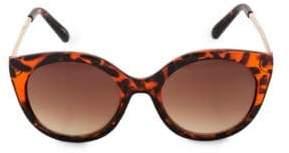 Steve Madden Glamours 53mm Tortoise Oval Sunglasses