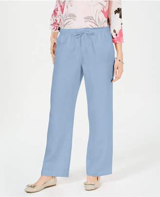 Charter Club Linen Petite Drawstring Pants