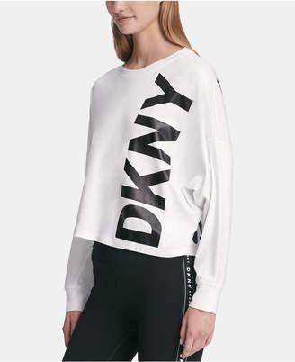 DKNY Sport Logo Dolman-Sleeve T-Shirt